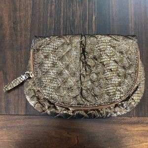 Gold Fabric Clutch from Gap - Clutch/Purse
